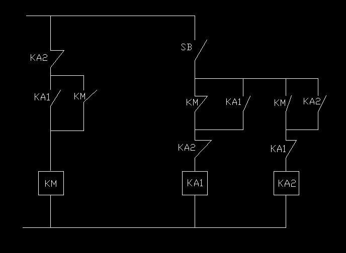你能用一个按钮开关和若干个中间继电器组成单键启停电路吗